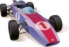 Voiture de course F1 classique Image stock