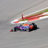 Voiture de course F1 :  Red Bull avec Sebastian Vettel Images stock