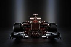 Voiture de course lisse de sports automobiles d'équipe avec l'éclairage de studio Image stock