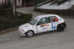 Voiture de course de Peugeot 106 Photo stock