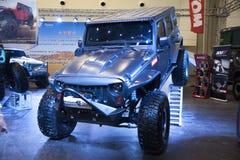 Voiture de cowboy de jeep Images libres de droits