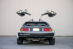 Voiture de DeLorean DMC-12 Images libres de droits