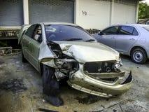 voiture de dommages Photos stock