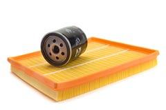 Voiture de filtre à air, filtre à huile Photographie stock
