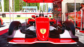 Voiture de Formule 1 au Salon de l'Automobile, 2 013 Photos libres de droits
