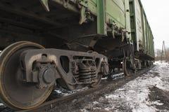 Voiture de fret de chemin de fer image libre de droits