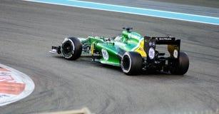 Voiture de GE F1, cheveux Pin Turn et accélération Image stock