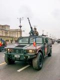 Voiture de Hummer de mitrailleuse Photographie stock libre de droits