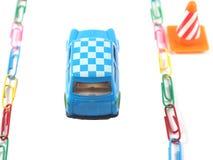 Voiture de jouet sur le chemin Image stock