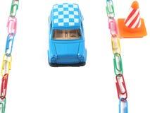 Voiture de jouet sur le chemin Photo libre de droits