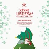 Voiture de Joyeux Noël et de bonne année Images stock