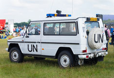 Voiture de l'ONU Photo stock