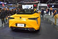 Voiture de Lexus LC 500 sur l'affichage à la trente-cinquième expo internationale de moteur de la Thaïlande le 28 novembre photos stock