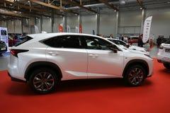 Voiture de Lexus montrée à la 3ème édition de l'EXPOSITION de MOTO à Cracovie Images stock