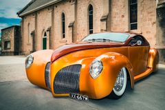 Voiture 1939 de Lincoln Zephyr Photographie stock