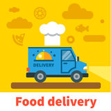 Voiture de livraison de nourriture Photo stock