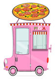 Voiture de livraison de pizza Photographie stock libre de droits