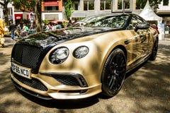 Voiture de luxe personnelle Bentley Continental Supersports, 2017 Image libre de droits