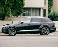 Voiture de luxe puissante d'Audi V6 Photos stock