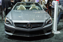 Voiture de Mercedes SL 65 sur l'affichage au salon de l'Auto de LA. Photo stock