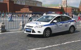 Voiture de police à Moscou Images stock