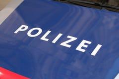 Voiture de police autrichienne Aucun logos évidents image libre de droits