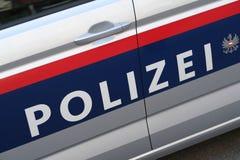 Voiture de police autrichienne Aucun logos évidents photographie stock libre de droits