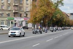 Voiture de police dirigée Photographie stock