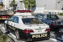 Voiture de police de patrouille de Toyota Chiyoda Tokyo Images stock