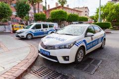 Voiture de police de Subaru de la police turque Trafik Polisi photos stock