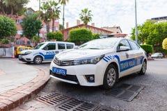 Voiture de police de Subaru de la police turque Trafik Polisi image libre de droits