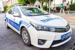 Voiture de police de Subaru de la police turque Trafik Polisi photo libre de droits