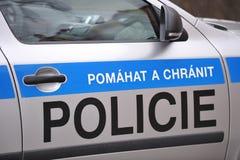 Voiture de police tchèque Photos libres de droits