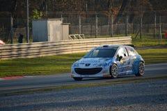 Voiture de rassemblement de Peugeot 207 à Monza Image libre de droits