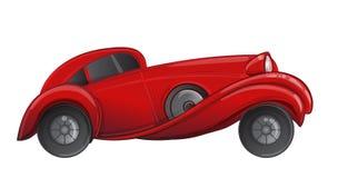 Voiture de rouge de style d'art déco Illustration de vecteur Années '20 d'hurlement C illustration stock
