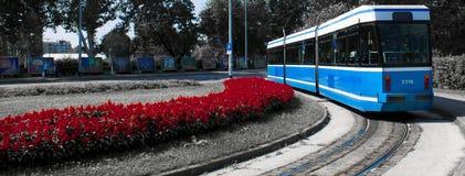 Voiture de rue de Zagreb Photos stock