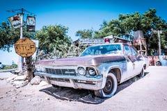 Voiture de Sceriff dans SELIGMAN, ARIZONA/USA Image stock
