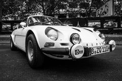 Voiture de sport A110 alpin Berlinette, 1976 Photo stock