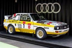 Voiture de sport Audi Sport Quattro Pikes Peak, 1985 Photos libres de droits