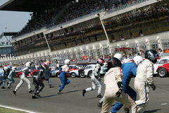 Voiture de sport, chemin 24h classique du Mans Image libre de droits