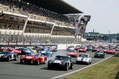 Voiture de sport, chemin 24h classique du Mans Images stock