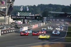 Voiture de sport, chemin 24h classique du Mans Images libres de droits