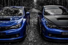Voiture de sport de voiture de course de STI de Subaru Impreza WRX Photo stock