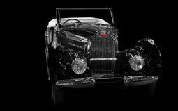 Voiture de sport de luxe rare de vintage de Bugatti Image libre de droits