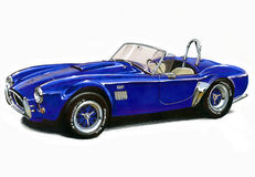 Voiture de sport du cobra 427 à C.A. illustration de vecteur