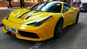 Voiture de sport Ferrari Images libres de droits
