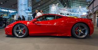 Voiture de sport Ferrari 458 Italie, 2014 Image libre de droits