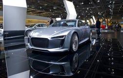 Voiture de sport futuriste neuve d'Audi Images libres de droits