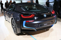 Voiture de sport hybride embrochable BMW i8 Photos stock