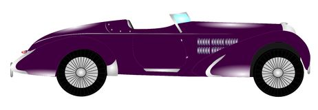 voiture de sport italienne des années 1930 Images libres de droits